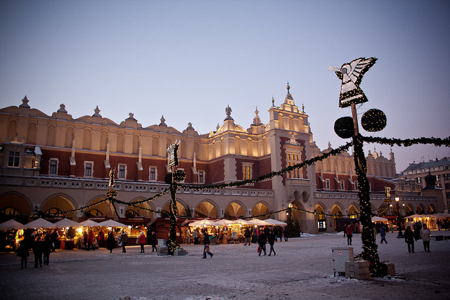 Halle aux draps sur la place principale de Cracovie